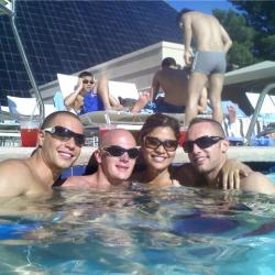 Hanging out at Temptation Sundays LGBT pool party